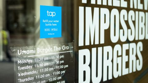 Tap signage will help steer customers into retail stores for water refills.