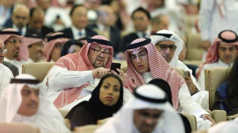 Participants attend the opening of the Future Investment Initiative conference, in Riyadh, Saudi Arabia.