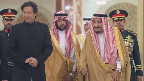 Pakistani Prime Minister Imran Khan meets King of Saudi Arabia, Salman bin Abdulaziz Al Saud at Al-Salam Royal Palace in Jeddah, Saudi Arabia on September 19, 2018.