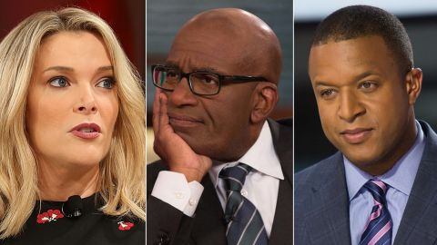 NBC's Megyn Kelly, Al Roker and Craig Melvin