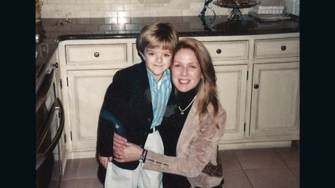 John Sarcona and his mother, Joanne, when he was 6 years old.