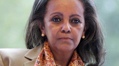 Sahle-Work Zewde, seen here in 2014, served as a top UN diplomat before becoming Ethiopia's first woman president.