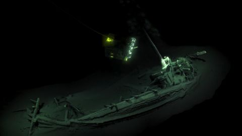 The world's oldest intact shipwreck was found by a research team in the Black Sea. It's a Greek trading vessel that was dated to 400 BC. The ship was surveyed and digitally mapped by two remote underwater vehicles.