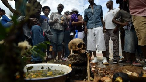 Vodou devotees participate in ceremonies on the Day of the Dead in Port-au-Prince, Haiti, on November 2, 2017.