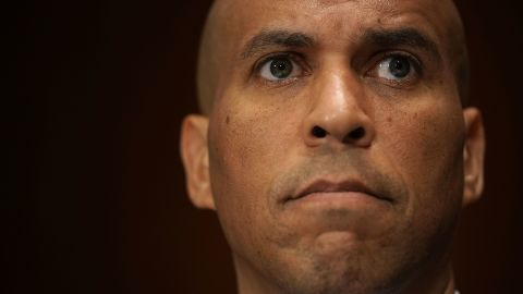 U.S. Sen. Cory Booker (D-NJ) listens during a markup hearing before the Senate Judiciary Committee September 13, 2018 on Capitol Hill in Washington, DC.