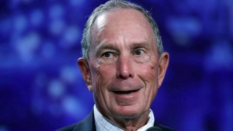 MIAMI BEACH, FL - JUNE 26:  Former New York City Mayor Michael Bloomberg addresses the United States Conference of Mayors at the Fountainebleau Hotel  on June 26, 2017 in Miami Beach, Florida. The mayors conference brought  mayors from across the country together to urge Americans to move past what they say is Washington's stalled partisan gridlock and instead, look locally for leadership that governs with vision and delivers results.  (Photo by Joe Raedle/Getty Images)