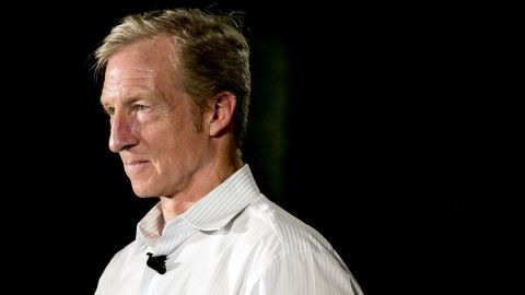 """Tom Steyer, co-founder of NextGen Climate Action Committee, attends a """"Need To Impeach"""" event in Detroit, Michigan, U.S., on Monday, Aug. 13, 2018. Steyer plans to spend an additional $10 million on helping Democrats take control of the House by attempting to drive up turnout among infrequent voters motivated by the idea of impeaching President Donald Trump."""