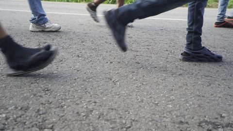 In the migrant caravan, the lucky ones manage to hitchhike. Others have to walk a marathon or more each day as they head to the United States.