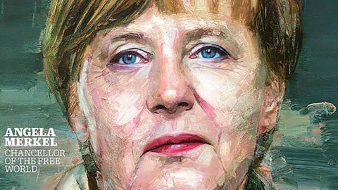 """Merkel was named Time magazine's Person of the Year in 2015. Time Editor-at-Large Karl Vick described her as """"the de factos leader of the European Union"""" by virtue of being leader of the EU's largest and most economically powerful member state. Twice that year, he said, the EU had faced """"existential crises"""" that Merkel had taken the lead in navigating -- first the Greek debt crisis faced by the eurozone, and then the ongoing migrant crisis."""