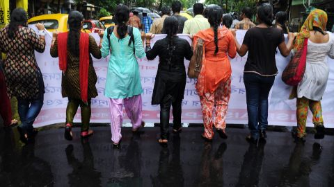 Students supporting various Leftist parties shout anti-government slogans during a protest following the recent gangrape and murder of a 20-year-old college student in Barasat, in Kolkata on June 13, 2013. Activists and social groups in various parts of the state have held rallies and protests following the incident. Indian lawmakers in March increased punishments for sex offenders to include the death penalty if a victim dies and a minimum 20-year prison sentence for gang-rape, but the new laws did not go far enough to tackle gender inequality or protect women, a UN special envoy said in May.