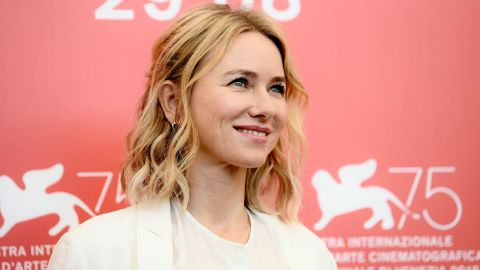 English actress Naomi Watts attends a photocall of the jury of the 75th Venice Film Festival on August 29, 2018 at Venice Lido.