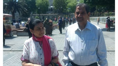 Rekha Singh and her husband, Col. R.D. Singh, traveling in Turkey two years ago.