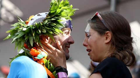 Germany's Patrick Lange won the men's event to secure his second world title. He proposed to his girlfriend, Julia, at the finish line. She said yes...