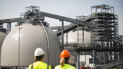 Biomass domes at Drax.