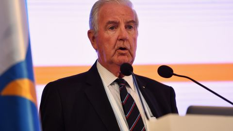 BANGKOK, THAILAND - APRIL 16:  World Anti-Doping Agency President Craig Reedie addresses during the ARISF (Association of IOC Recognised International Sport Federation) Gemeral Assembly on day two of the SportAccord at Centara Grand & Bangkok Convention Centre on April 16, 2018 in Bangkok, Thailand.  (Photo by Thananuwat Srirasant/Getty Images)