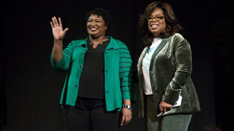 Oprah Winfrey takes part in a town hall meeting with Democratic gubernatorial candidate Stacey Abrams ahead of the mid-term election in Marietta, Georgia, U.S. November 1, 2018. REUTERS/Chris Aluka Berry