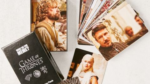 """<strong>'What Do You Meme?' 'Game Of Thrones' Photo Expansion Pack ($13; </strong><a href=""""https://click.linksynergy.com/deeplink?id=Fr/49/7rhGg&mid=43176&u1=1218tvgifts&murl=https%3A%2F%2Fwww.urbanoutfitters.com%2Fshop%2Fwhat-do-you-meme-game-of-thrones-photo-expansion-pack"""" target=""""_blank"""" target=""""_blank""""><strong>urbanoutfitters.com</strong></a><strong>)</strong>"""