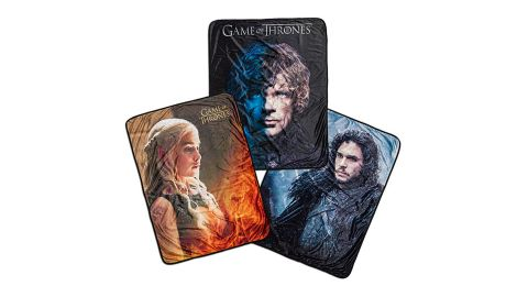 """<strong>'Game of Thrones' Vivid Fleece Blankets ($24.99; </strong><a href=""""http://www.anrdoezrs.net/links/8314883/type/dlg/sid/1218tvgifts/https://www.thinkgeek.com/product/jsuv/"""" target=""""_blank"""" target=""""_blank""""><strong>thinkgeek.com</strong></a><strong>)</strong>"""