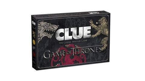 """<strong>Clue 'Game of Thrones' Board Game ($34.49, </strong><a href=""""https://amzn.to/2JMC8N2"""" target=""""_blank"""" target=""""_blank""""><strong>amazon.com</strong></a><strong>)</strong>"""