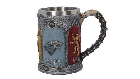 "<strong>'Game of Thrones' Sigil Tankard ($74.95, </strong><a href=""https://amzn.to/2JJtGOs"" target=""_blank"" target=""_blank""><strong>amazon.com</strong></a><strong>)</strong>"