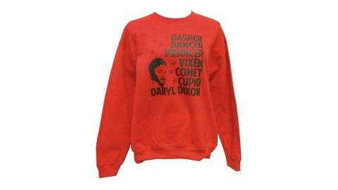 """<strong>'The Walking Dead' Christmas Sweater ($25.99; </strong><a href=""""https://amzn.to/2JIgJEB"""" target=""""_blank"""" target=""""_blank""""><strong>amazon.com</strong></a><strong>)</strong>"""