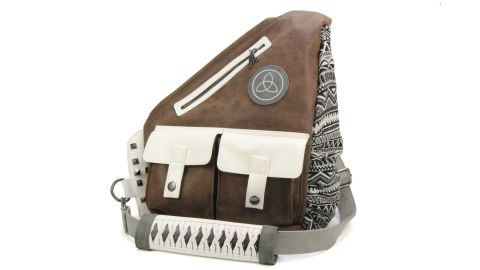 """<strong>'The Walking Dead' Michonne Faux Leather Sling Bag ($49.85; </strong><a href=""""https://amzn.to/2JIx8sA"""" target=""""_blank"""" target=""""_blank""""><strong>amazon.com</strong></a><strong>)</strong>"""