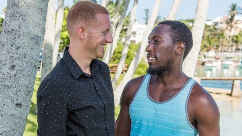 Greg Godwin-DeRoche (L) and Winston Godwin-DeRoche (R) fought for LGBT rights for Bermudians, but married in Canada.