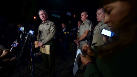 Ventura County Sheriff Geoff Dean briefs reporters on the deadly shooting.