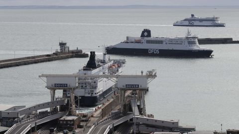 The Dover-Calais shipping route is important for UK trade.