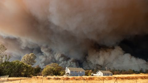 Smoke fills the sky over Paradise on November 8. Paradise, located about 85 miles north of Sacramento, has 26,000 residents.