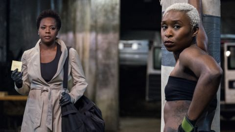 Viola Davis, Cynthia Erivo in 'Widows' (Credit: Merrick Morton)