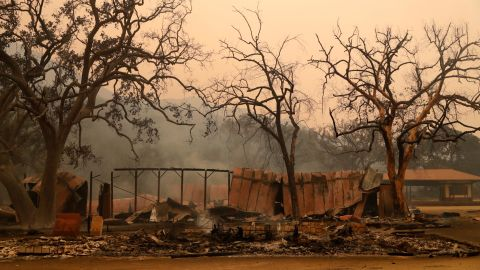 Western Town at Paramount Ranch after the wildfire came through.