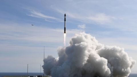 """Rocket Lab's second-ever mission, nicknamed """"It's Business Time,"""" launched successfully from a New Zealand launch pad over the weekend."""