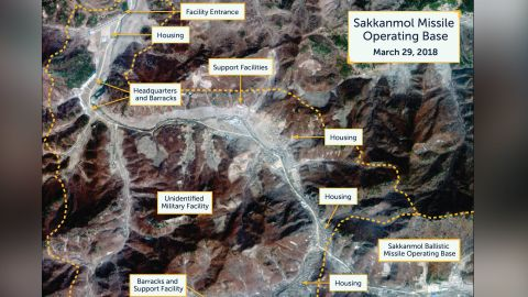 Satellite photos of North korea missile base