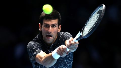 """""""Pick a side,"""" Djokovic said about beating one of the biggest servers in the men's game."""
