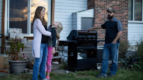 Kristen Kilmer, at home with her family, was diagnosed with incurable breast cancer at age 38.