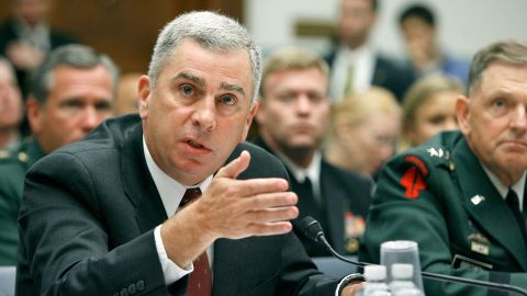 """WASHINGTON - AUGUST 01:   Former commander of the U.S. Central Command retired Gen. John Abizaid testifies to the House Oversight and Government Reform Committee about the combat fratricide of NFL star and US Army Ranger Pat Tillman on Capitol Hill August 1, 2007 in Washington, DC. The hearing was titled """"The Tillman Fratricide: What the Leadership of the Defense Department Knew."""" Tillman's family was originally told that he was killed by the enemy during combat in Afghanistan. It was later revealed that he was killed in a """"friendly-fire"""" accident by his fellow Rangers."""