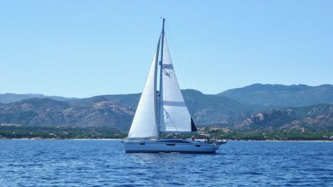 It is wonderful to turn the engine off and be carried along by the power of wind alone. This is Boomerang under sail.