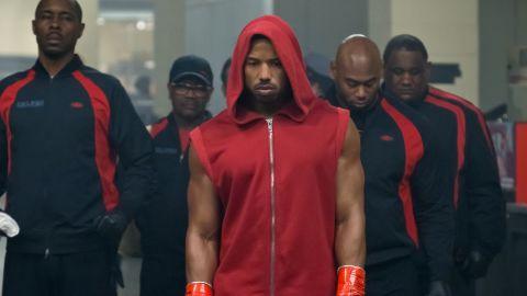 Michael B. Jordan (center) in 'Creed II'