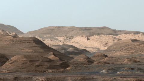 Curiosity took images in September 2015 of Mount Sharp, a hematite-rich ridge, a plain full of clay minerals to create a composite and rounded buttes high in sulfate minerals. The changing mineralogy in these layers of Mount Sharp suggests a changing environment in early Mars, though all involve exposure to water billions of years ago.