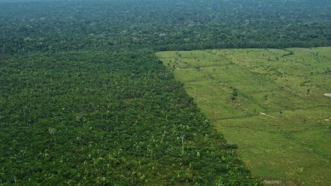 Aerial view of deforestation in the Western Amazon region of Brazil on September 22, 2017.  Parts of the Western Amazon rainforest have suffered some of the heaviest deforestion in the Amazon as a whole, with figures puting it at a third higher than last year. Illegal logging has been hard to police in a country in economic crisis.  / AFP PHOTO / CARL DE SOUZA / TO GO WITH AFP STORY by PAULA RAMON        (Photo credit should read CARL DE SOUZA/AFP/Getty Images)