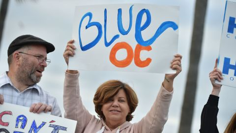 Democrats appear poised for a total takeover of the one-time Republican bastion of Orange County.