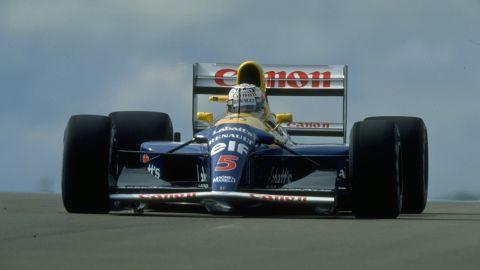 The Brit also drove the Williams FW14B to victory at the 1992 British Grand Prix.
