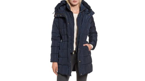 """<strong>Cole Haan Hooded Down and Feather Jacket ($125, originally $225; </strong><a href=""""https://click.linksynergy.com/deeplink?id=Fr/49/7rhGg&mid=1237&u1=1118nordstrombf&murl=https%3A%2F%2Fshop.nordstrom.com%2Fs%2Fcole-haan-hooded-down-feather-jacket%2F4710006%3Forigin%3Dcategory-personalizedsort%26breadcrumb%3DHome%252FSale%252FWomen%26color%3Dnavy"""" target=""""_blank"""" target=""""_blank""""><strong>nordstrom.com</strong></a><strong>) </strong><br />"""