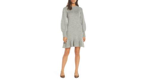 "<strong>Eliza J Baloon Sleeve Sweater Dress ($88.80, originally $148; </strong><a href=""https://click.linksynergy.com/deeplink?id=Fr/49/7rhGg&mid=1237&u1=1118nordstrombf&murl=https%3A%2F%2Fshop.nordstrom.com%2Fs%2Feliza-j-balloon-sleeve-sweater-dress%2F5066225%3Forigin%3Dcategory-personalizedsort%26breadcrumb%3DHome%252FSale%252FWomen%252FClothing%26color%3Dgreen"" target=""_blank"" target=""_blank""><strong>nordstrom.com</strong></a><strong>) </strong><br />"