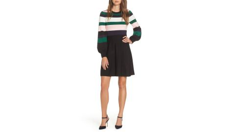 """<strong>Vince Camuto Balloon Sleeve Fit and Flare Sweater Dress ($76.80, originally $128; </strong><a href=""""https://click.linksynergy.com/deeplink?id=Fr/49/7rhGg&mid=1237&u1=1118nordstrombf&murl=https%3A%2F%2Fshop.nordstrom.com%2Fs%2Fvince-camuto-balloon-sleeve-fit-flare-sweater-dress%2F5067539%3Forigin%3Dcategory-personalizedsort%26breadcrumb%3DHome%252FSale%252FWomen%252FClothing%26color%3Dnavy"""" target=""""_blank"""" target=""""_blank""""><strong>nordstrom.com</strong></a><strong>) </strong><br />"""