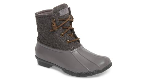 """<strong>Sperry Saltwater Rain Boot ($99.90, originally $119.95; </strong><a href=""""https://click.linksynergy.com/deeplink?id=Fr/49/7rhGg&mid=1237&u1=1118nordstrombf&murl=https%3A%2F%2Fshop.nordstrom.com%2Fs%2Fsperry-saltwater-rain-boot-women%2F5152501%3Forigin%3Dcategory-personalizedsort%26breadcrumb%3DHome%252FSale%252FWomen%26color%3Dmedium%2520grey"""" target=""""_blank"""" target=""""_blank""""><strong>nordstrom.com</strong></a><strong>) </strong><br />"""