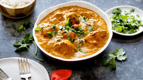 Turkey tikka masala, the creamy Punjabi-style curry that Britain wisely claims as its national dish, in New York, November, 2016. When it's time to face the half-eaten bird in your fridge, look to classic flavor combinations from around the world for inspiration.