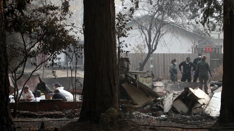 Crews search for human remains in Paradise, California.