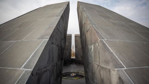 <strong>Yerevan, Armenia: </strong>The Armenian Genocide Memorial complex, Tsitsernakaberd, was built in 1967 in the Armenian capital of Yerevan to commemorate the approximately 1.5 million Armenians killed in the Ottoman Empire between 1914 and 1923.